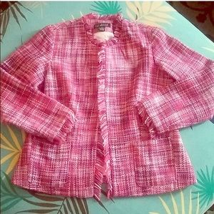 Dialogue Pink tweed blazer
